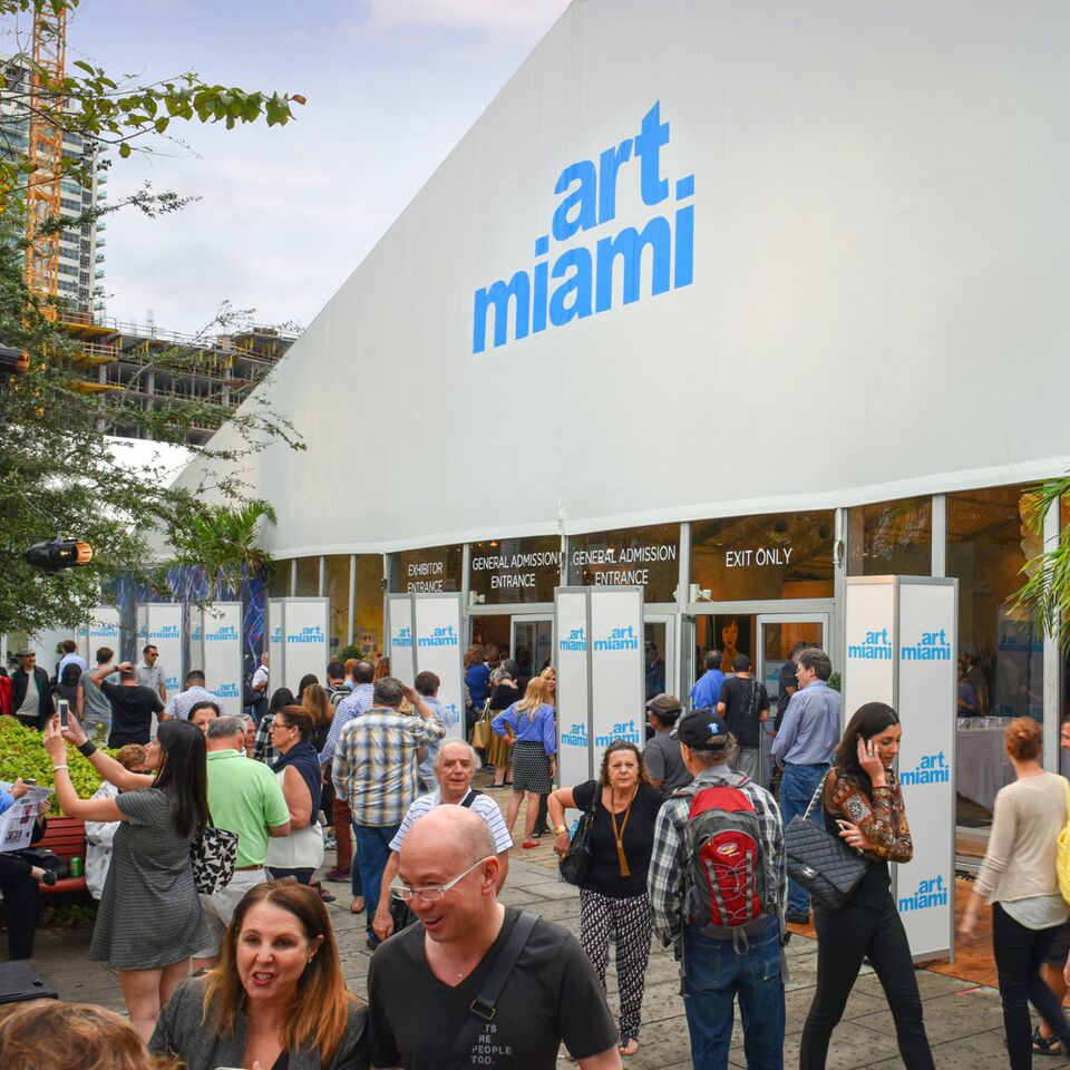 people at art miami