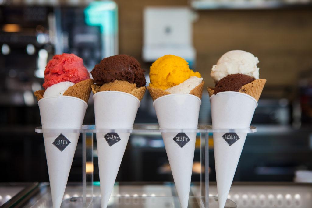 Gelatte ice cream cones