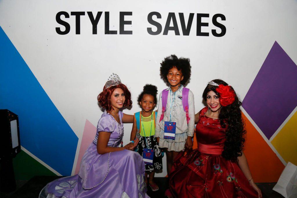 Kids enjoying Style Saves Back to School event.