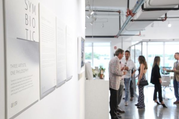AXS Law periodically hosts art shows in the office.
