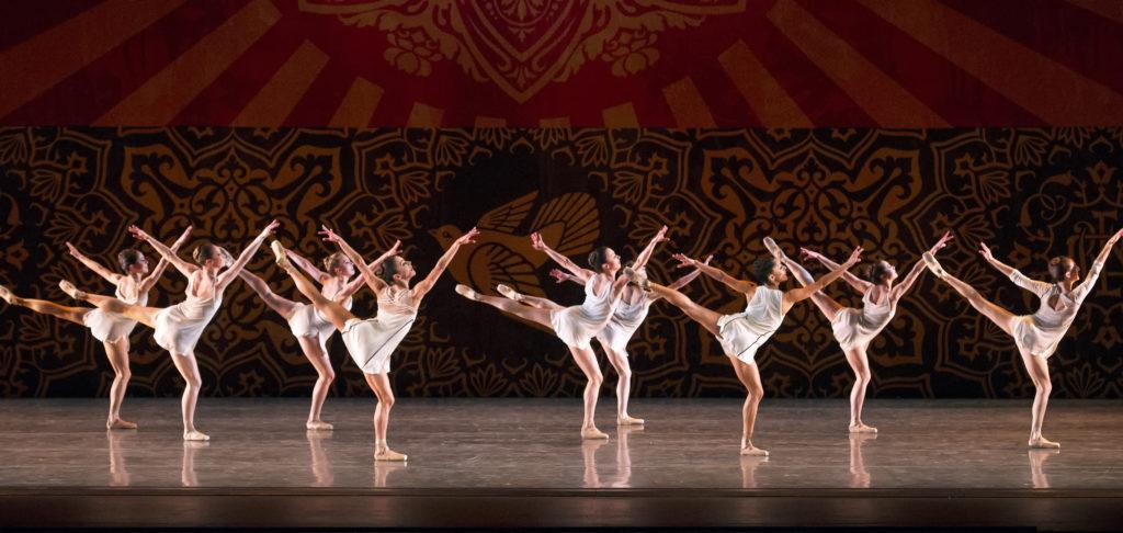 Miami City Ballet dancers in Heatscape. Choreography by Justin Peck. Photo © Gene Schiavone.