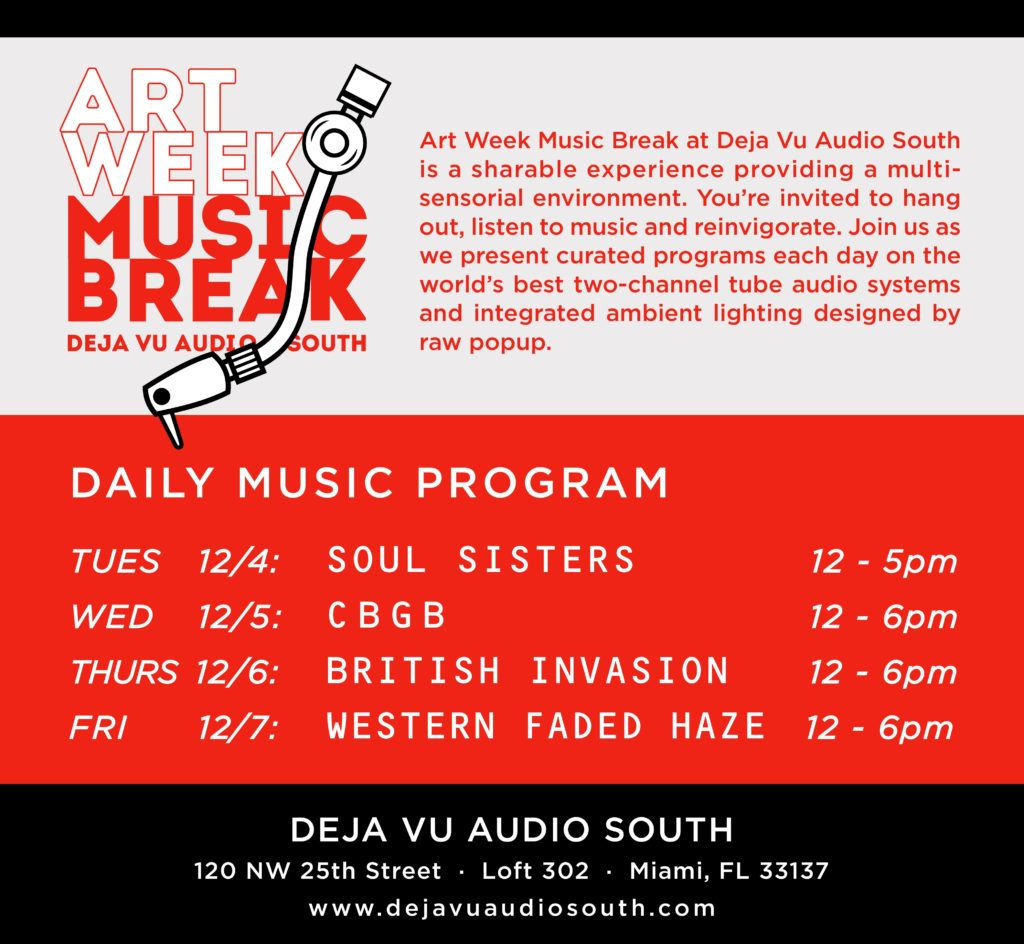 Deja Vu art week music break