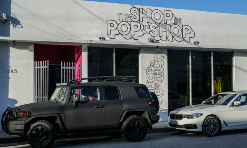 the shop in pop up shop exterior
