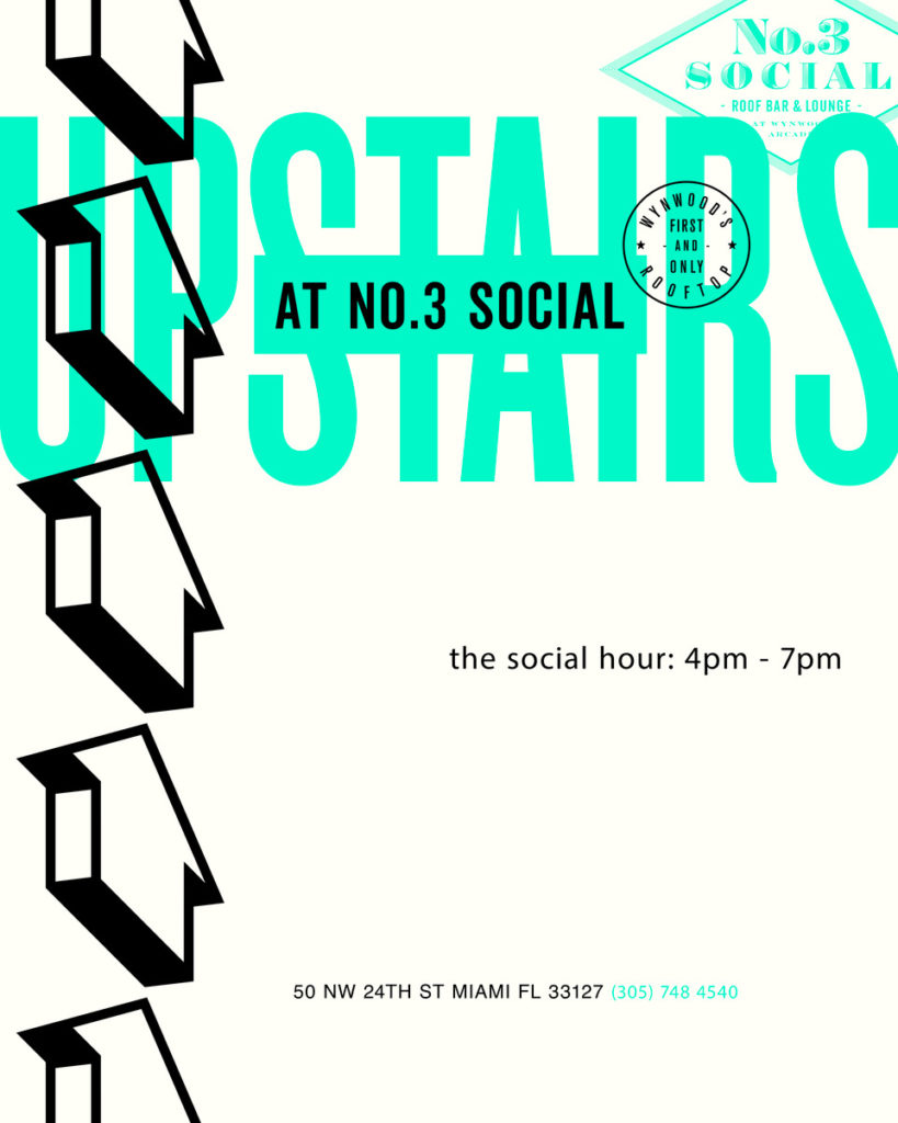 Upstairs social flyer