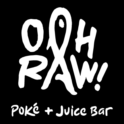 ooh raw poke juice bar logo