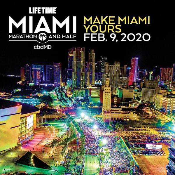 Miami marathon flyer