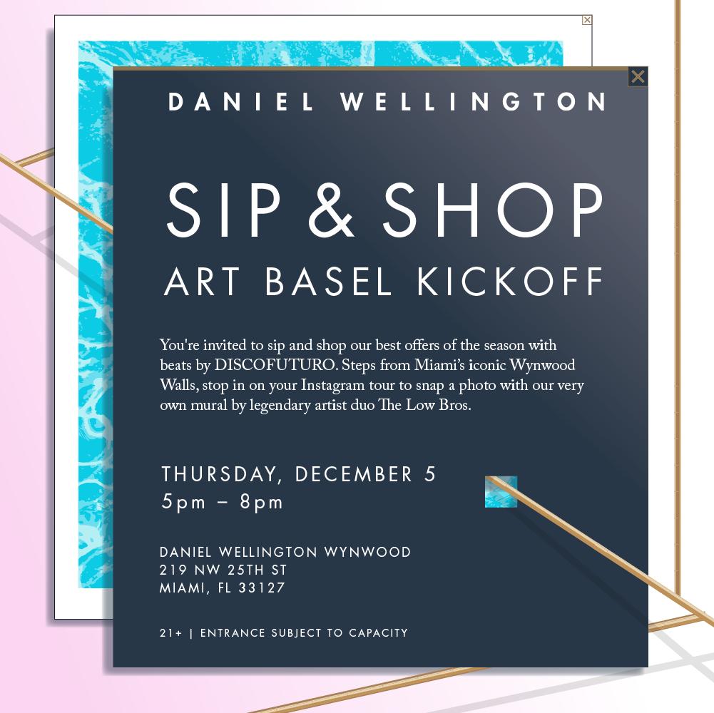 Sip & Shop Art Basel Kickoff
