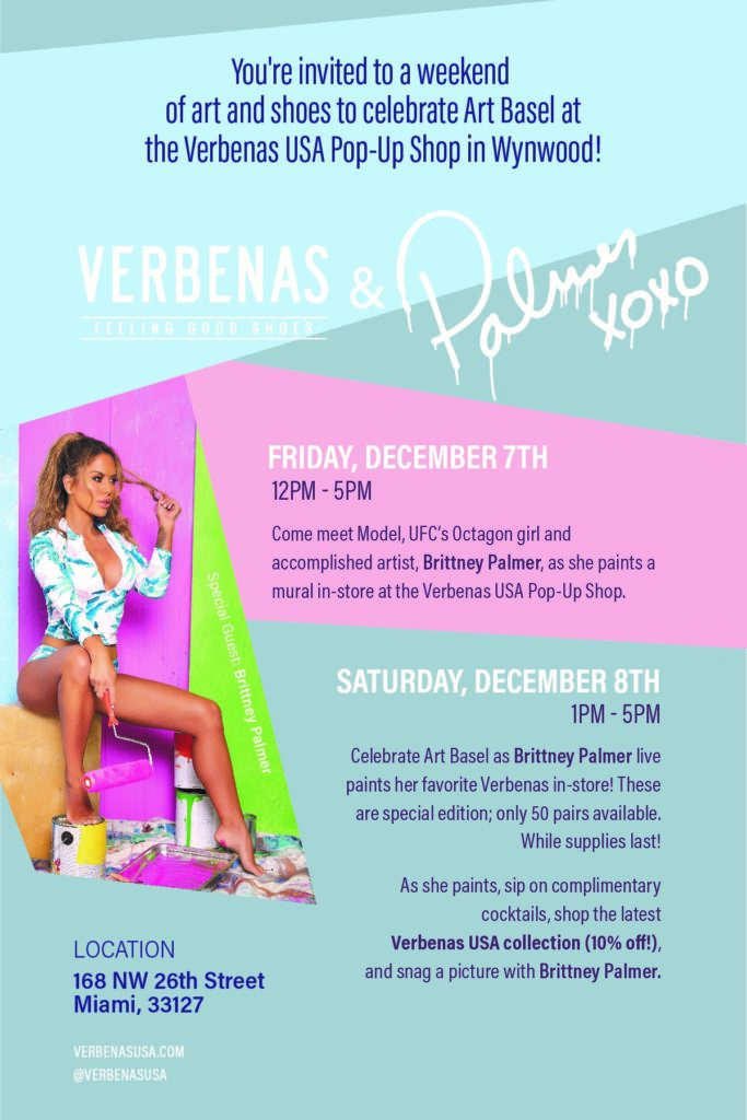 Verbenas Brittney Palmer pop up