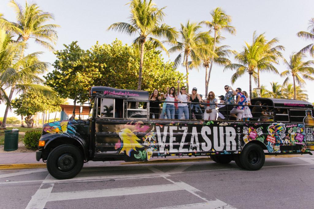 Veza Sur on Tour bus