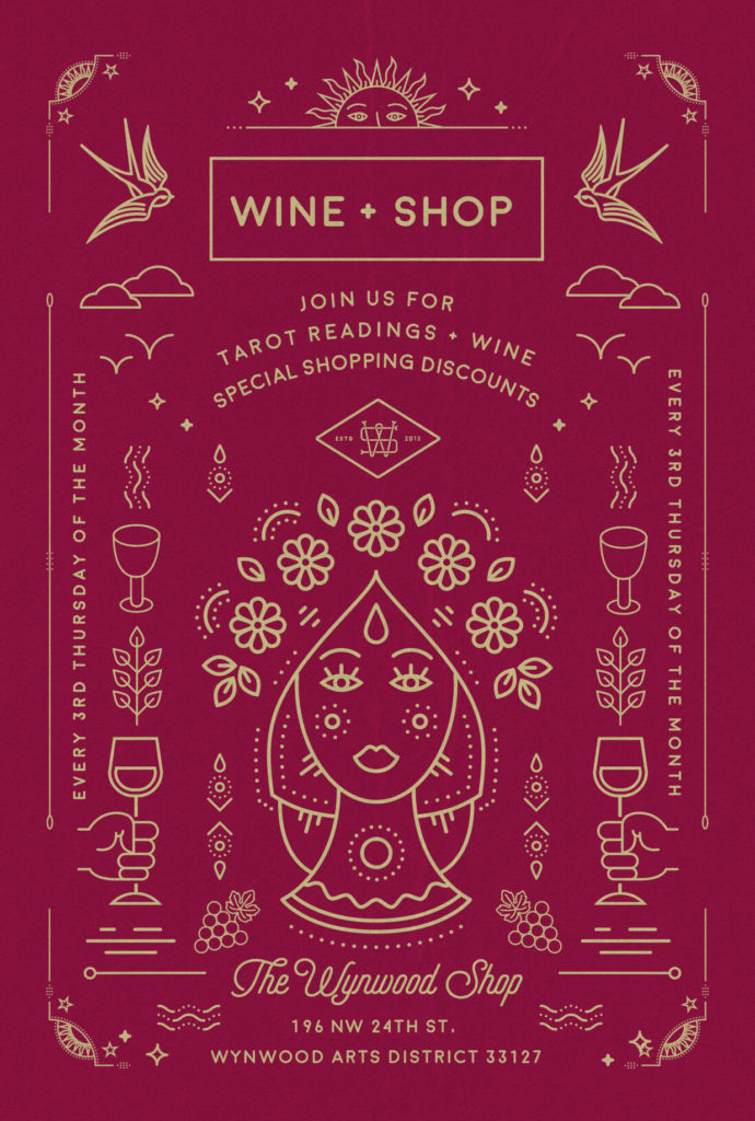 Wine and shop, the wynwood shop flyer