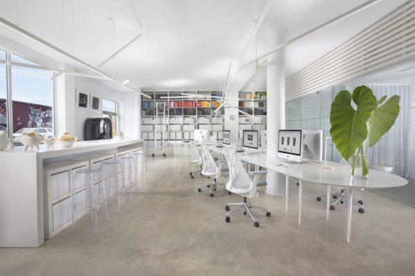 Britto Charette employs an open floor plan