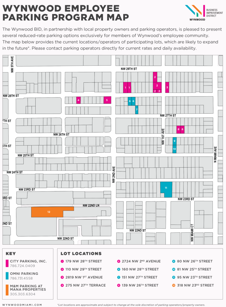 Wynwood Employee Parking Map