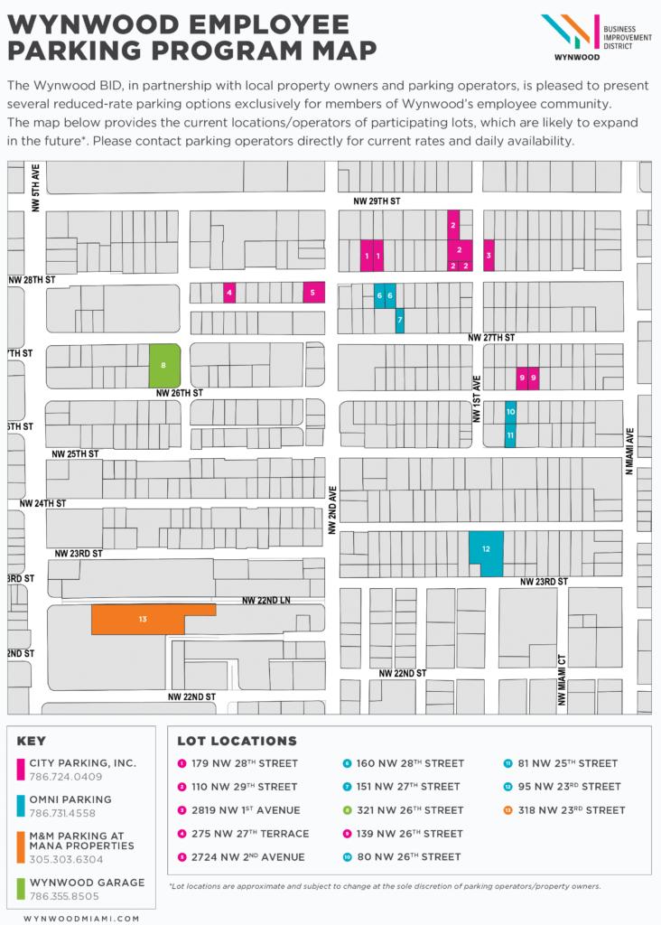 Wynwood Employee Parking Map
