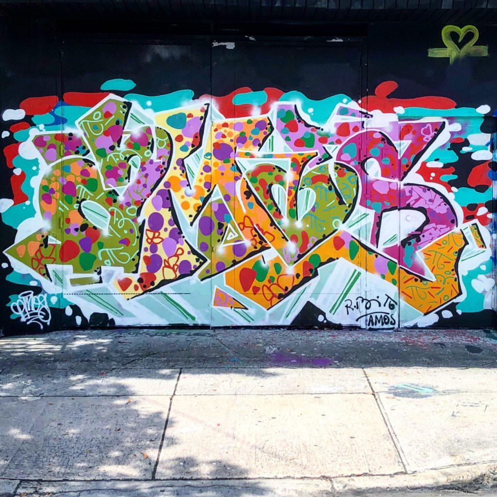 AMOS mural in Wynwood