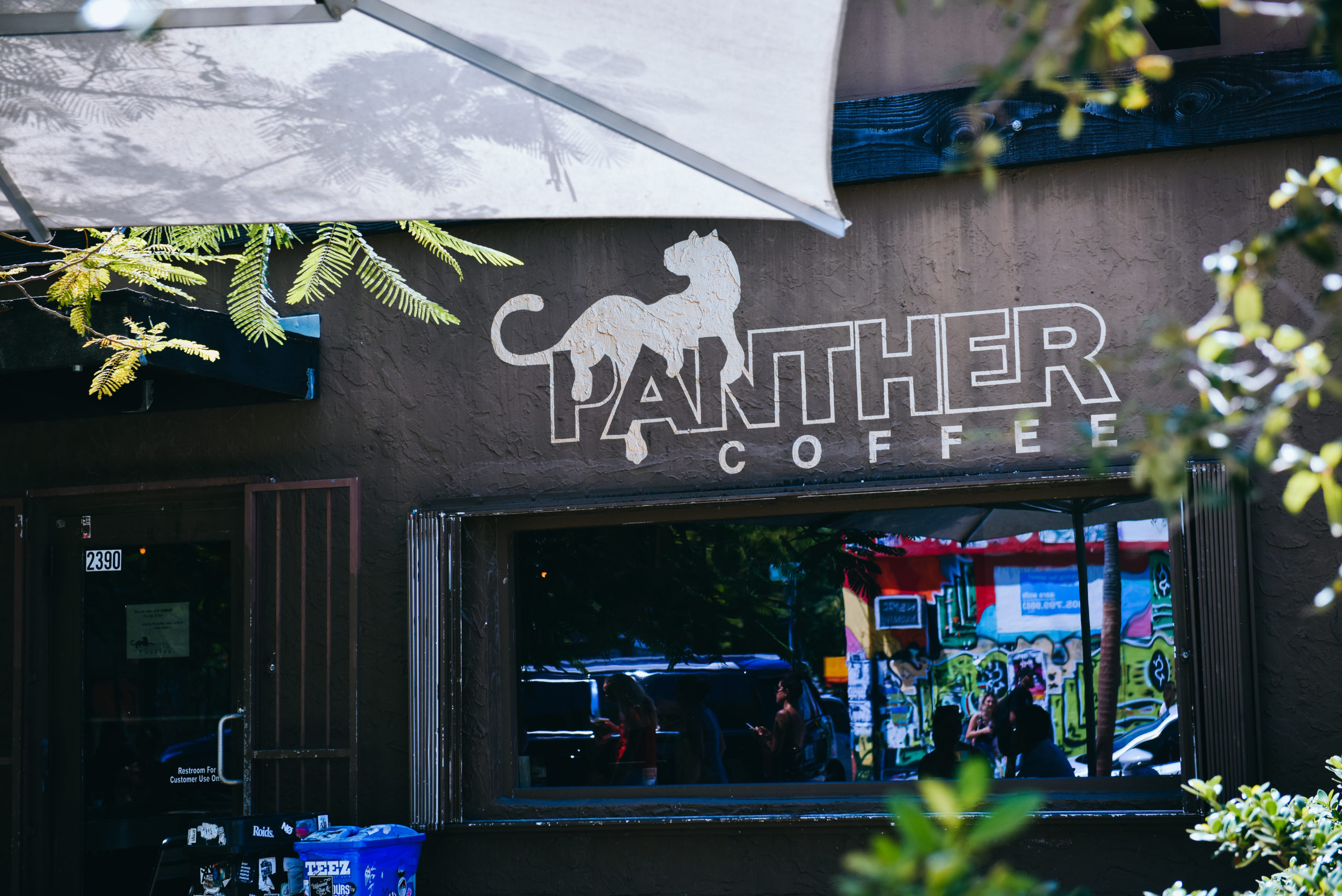Panther Coffee exterior wall
