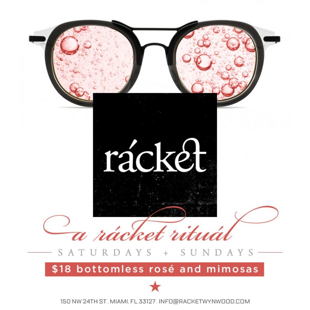 racket bottomless rose and mimosas