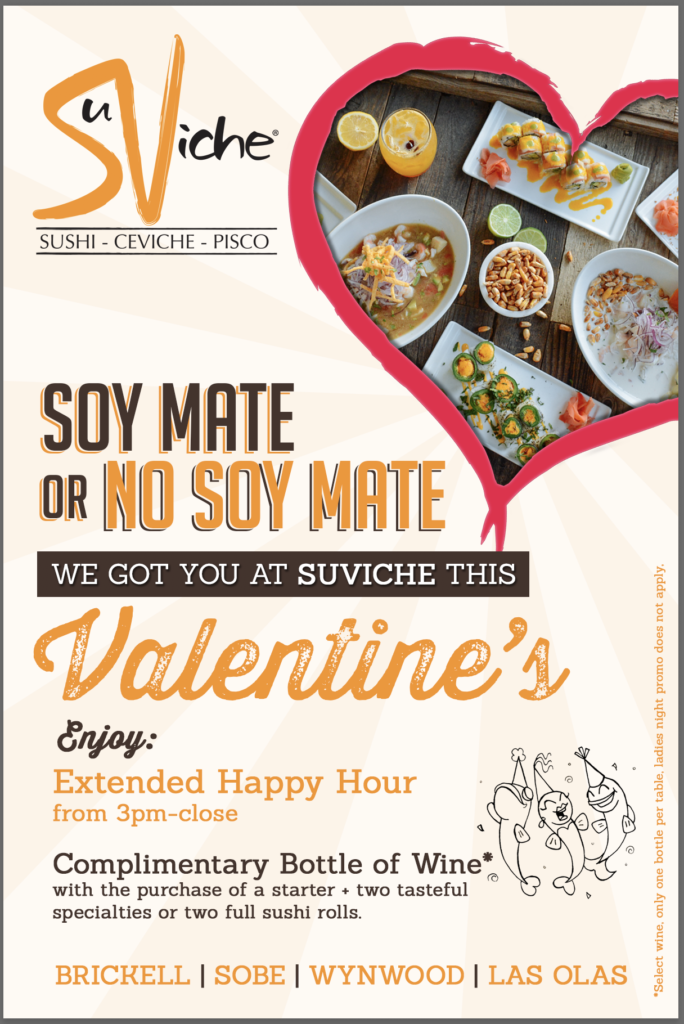 Get saucy at SuViche and enjoy extended happy hour